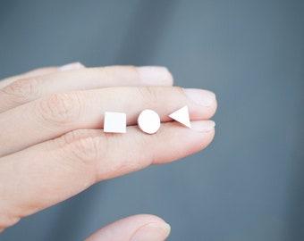 Shape Earrings Hand Sawn from Sterling Silver