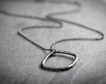 Urban Ocean Medium Statement Sterling Silver Oxidised Necklace