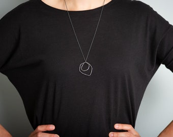 Urban Ocean Statement Sterling Silver Oxidised Necklace