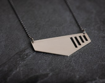 Architecture Inspired Sterling Silver Necklace