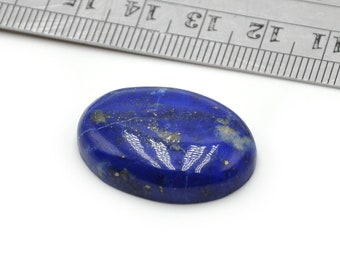 Lapis Lazuli with Pyrite Spots Cabochon 28mmX19mmX6mm Genuine/Undyed Natural Oval Mineral Stone Cab N.869E
