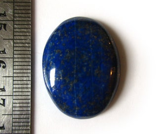 New! Lapis Lazuli with Pyrite Cabochon 27mmX21mm Genuine/Undyed Natural Oval Mineral Stone Cab N.6C