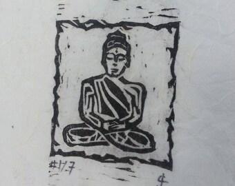 Buddha in Zazen Print
