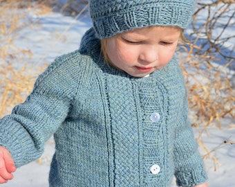 KNITTING PATTERN PDF Cardigan - Seamless Cardigan - Seamless Sweater - Baby Sweater - Todlder's Sweater - Knit pattern cardgian