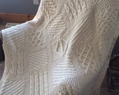 Seamless Knit Square Afghan knitting pattern afghan blanket knitting pattern knit blanket pattern afghan knitting pattern