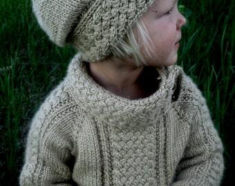 KNITTING PATTERN PDF sweater - Knit pattern sweater - Baby sweater - Child sweater - Cabled sweater