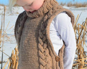 KNITTING PATTERN PDF Cable Sweater - Cabled knit pullover pattern - Knitting pattern - knit pattern
