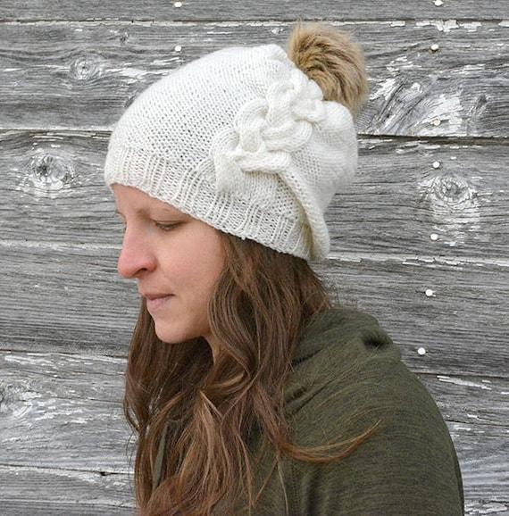 39e93077309 Hat knitting pattern   Slouch hat knitting pattern   Knit hat