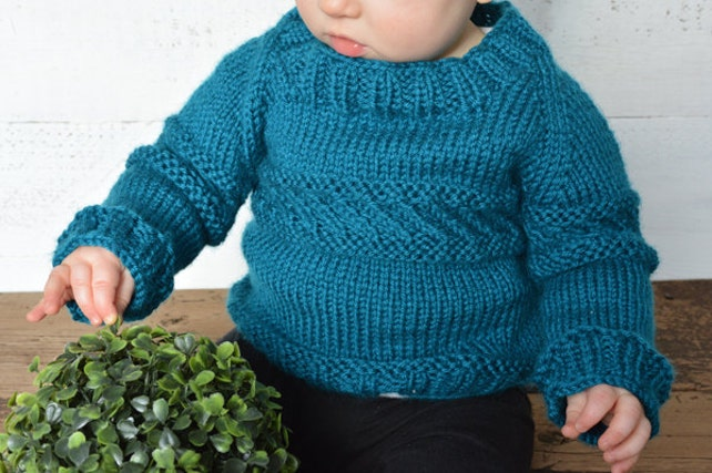 Knitting Pattern Pdf Sweater Knit Pattern Sweater Knit Boy Etsy