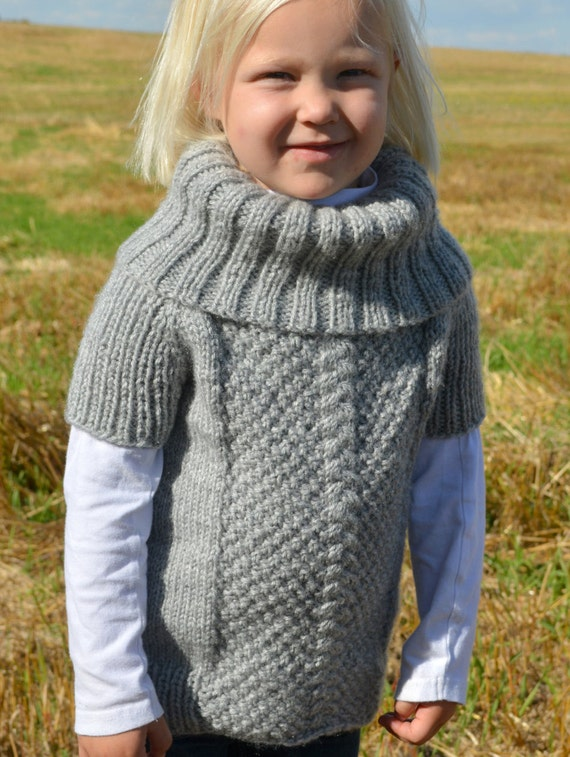 Knitted Sweater Pattern Kids Knit Sweater Knitting Etsy
