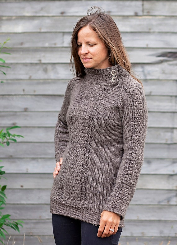 Sweater Knitting Pattern Seamless Knit Sweater Pattern Etsy