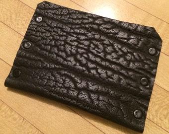 Leather Wallet, Full Weight & Grain- Shrunken Buffalo Shoulder.