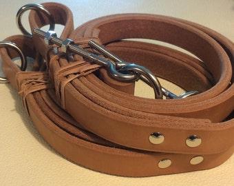 Saddle Leather Reformer Straps.