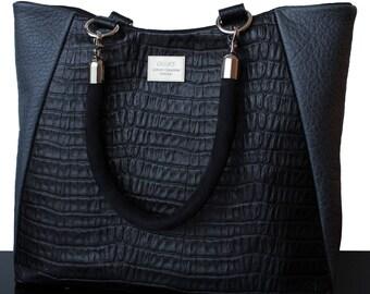Black bag, black leather bag, grey bag, grey leather bag, office bag, leather black bag