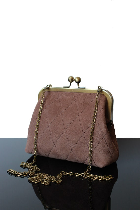 Leather purse brown bags designers bags from France evening  df4e4522c87b7