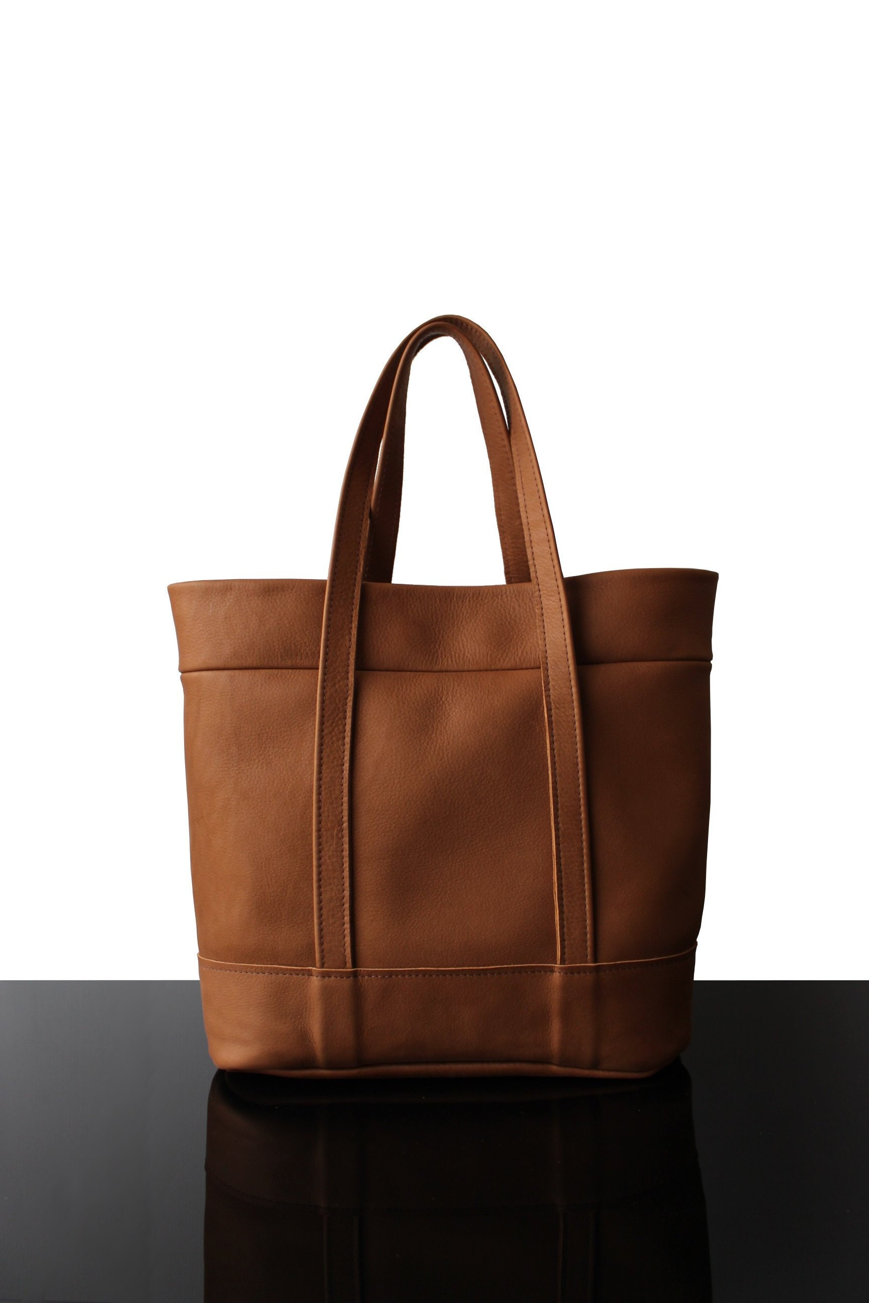 18b52a8af3cba Shopper leather bag tote bag leather Tote bag made in France