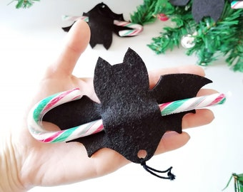 Bat with candy cane