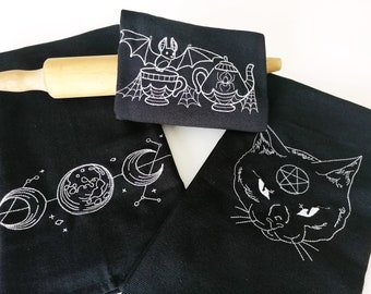 Kitchen towel *WitchCat 70x50cm