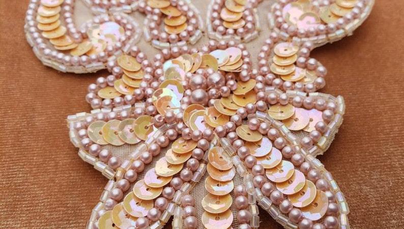Rust orange sequin perle applique perlenorange goldmedaille etsy
