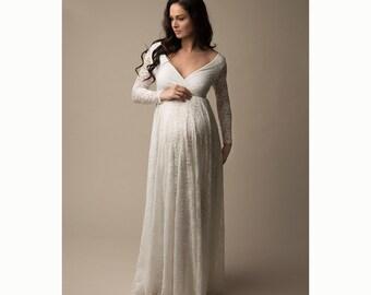 9e725a46122 Fleur Baby Shower Dress l Wedding Dress l Wedding Maternity Dress l Mom to  be Dress l Bride to be Dress l Dress Baby Shower l Wedding Gown