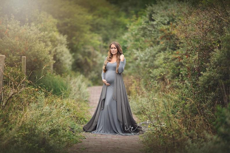 c3b34382024b Iris maternity dress sheer dress on the shoulder long   Etsy