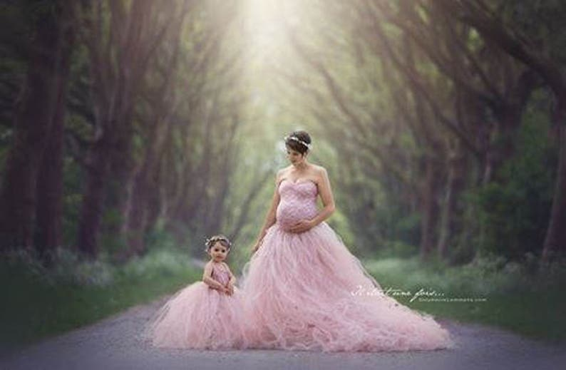 mommy and me tule set, incl tops, maternity dress for photoshoot, tutu mama  skirt, mommy and me for photoshoot, light pink dresses