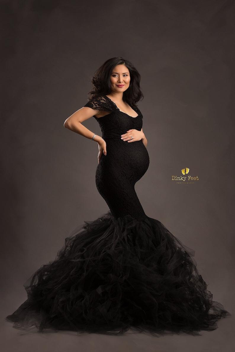 dd58ff4a6ae Thistle dress   tight tule maternity dress   maternity dress