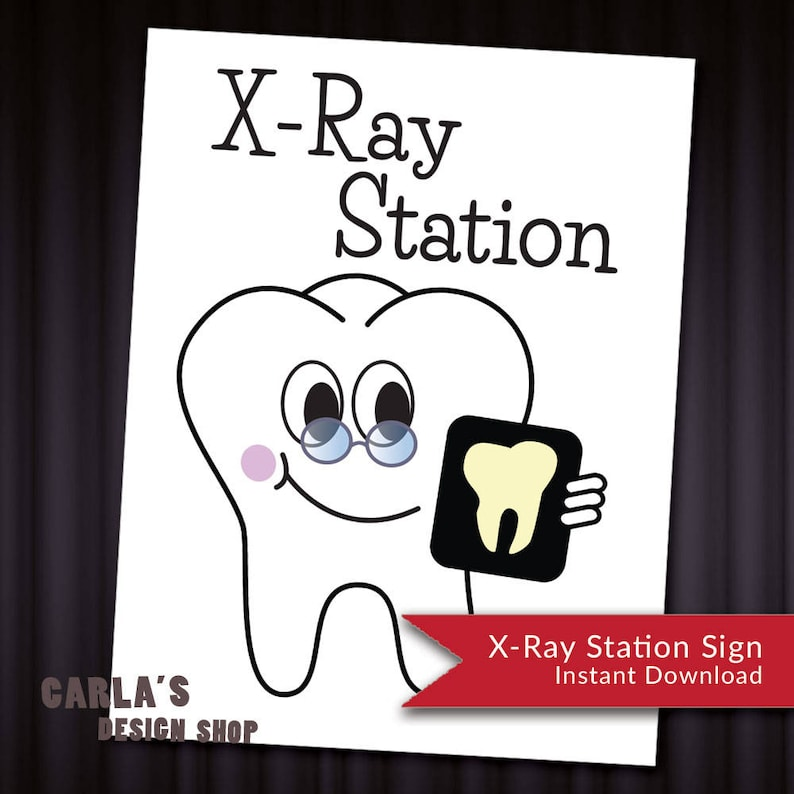 image regarding Printable X Rays identify X-Ray Station Dental Enamel Signal PRINTABLE Letter-Dimensions Design and style Quick Obtain PDF JPG Record