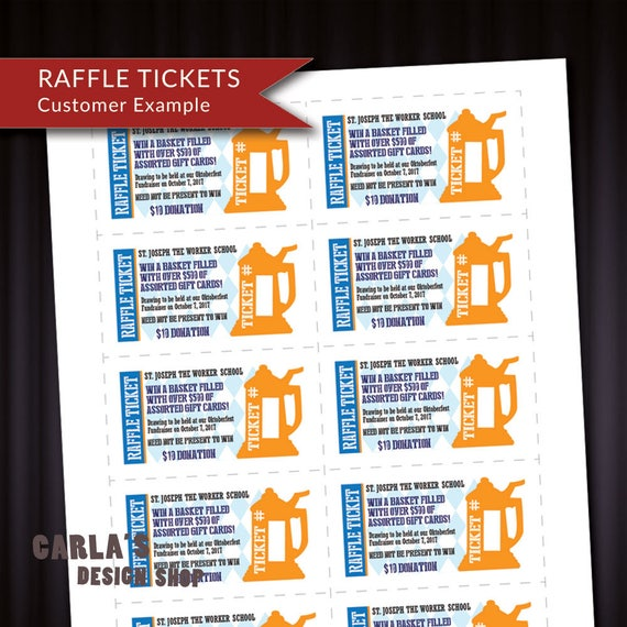 Oktoberfest Herbstfest Bier Stein Druckbare Tombola Ticket Fundraiser Visitenkartengröße Passen 10 Auf Einer Seite Diy Contest Tickets