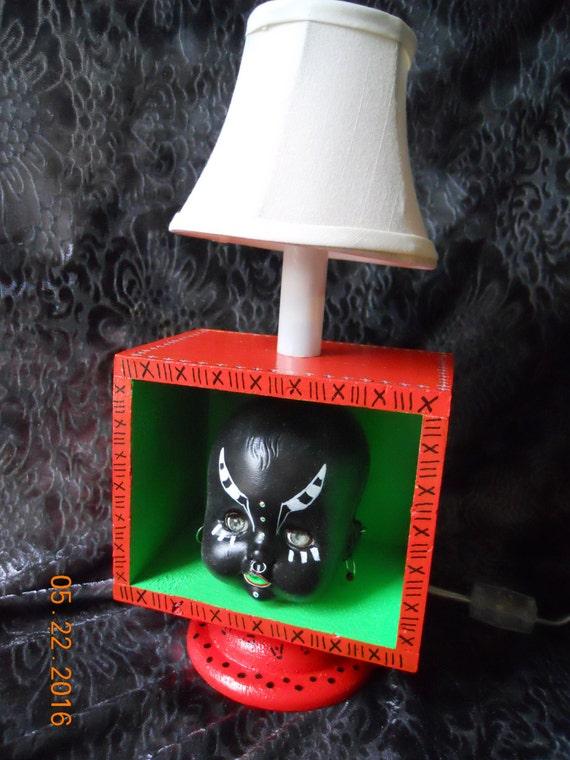 Skull Art Doll Lamp OOAK Handcrafted