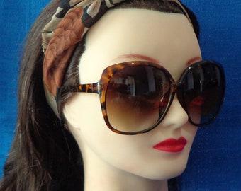 52b401336f7 Ladies Vintage Oversized Tortoise Sunglasses