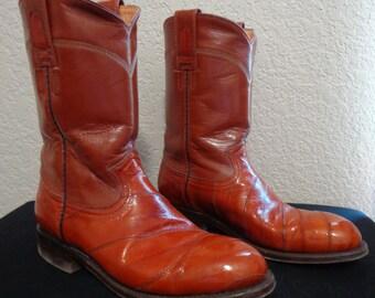 0c05ee1374b Eel cowboy boots | Etsy