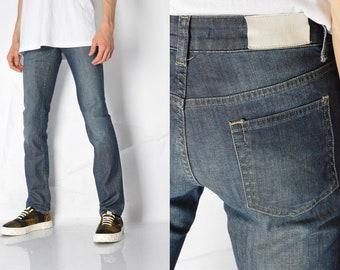 3f786d30 ACNE JEANS Y2K Blue Skinny Low Waist Jeans Waist Size 28 in