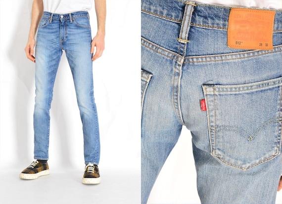 Y2K Faded Blue Levis 512 Slim Fit Jeans Waist 29