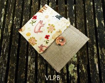 74e634a29edc Etui range barrettes lin coton motifs les animaux de la ferme