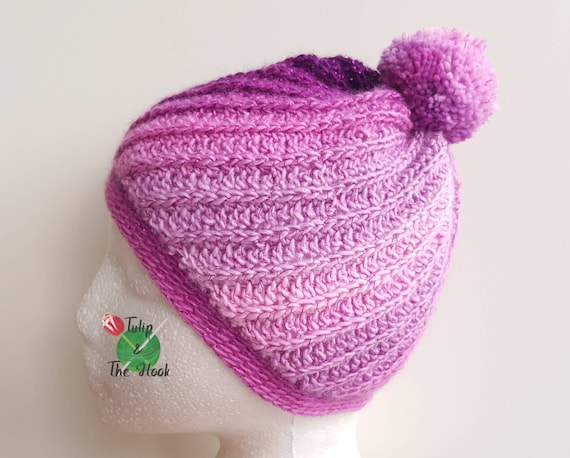 dcd30aab99d Sparkly bobble hat kids beanie pink woolly hat boys winter