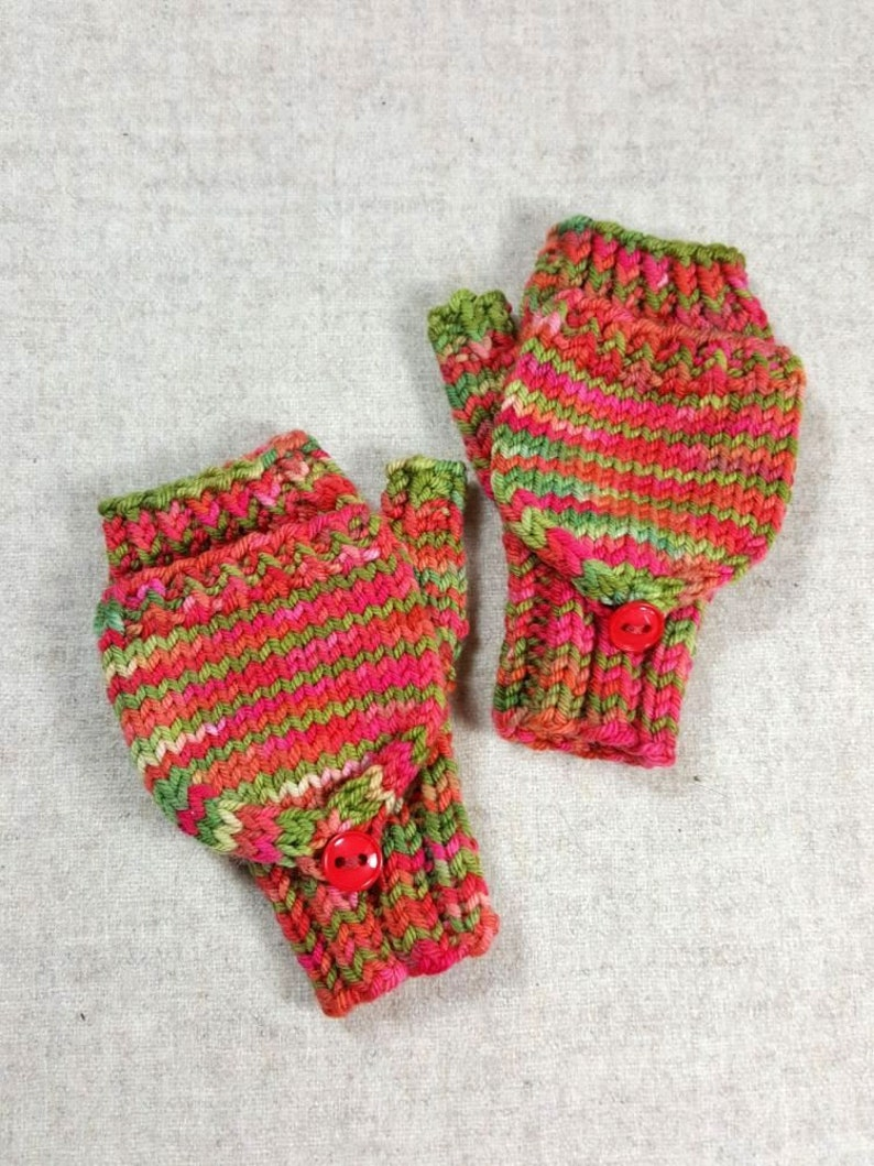 fa0871f17b3 Red Fingerless Gloves for Babies baby mittens with flap