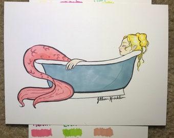 Mini Mermaid in the Tub