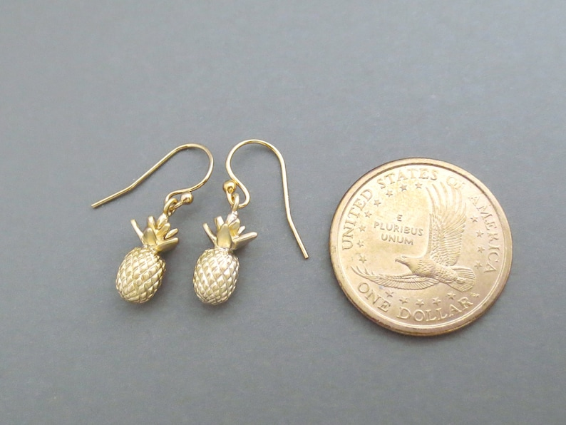 Gift Earrings Gold filled hooks Sister Jewelry Mom Jewelry Birthday Jewelry Pineapple Fruit Friendship Lovely