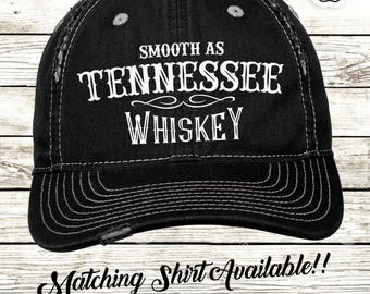 6975707cb7e1f Smooth as Tennessee Whiskey womens hat Country Country song key Distressed  Hat Low Profile Cap Trucker Hat Baseball hat Cap Country Lyrics