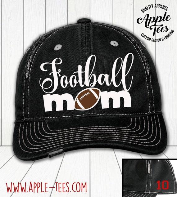 Football Mom Distressed Glitter Ladies Trucker Hat Sports Mom Team