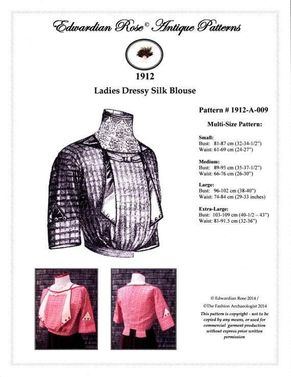 Digital Antique Sewing Pattern Multi Size Elegant 1912 Etsy