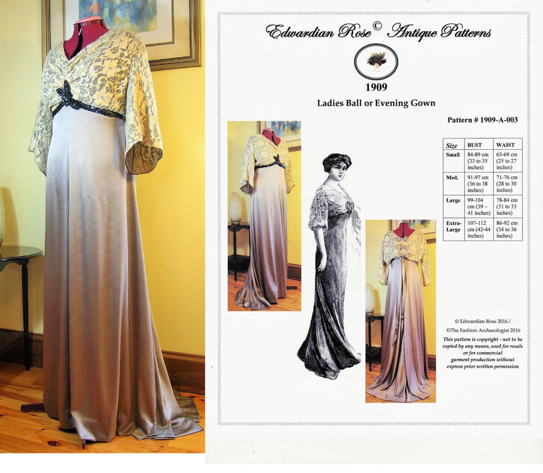 Digital Sewing PatternLadies\' 1909 Edwardian Titanic | Etsy