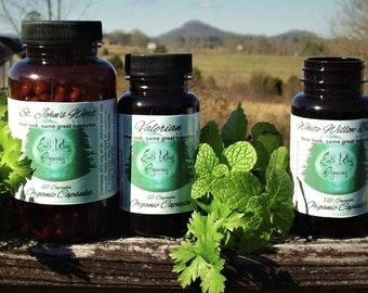 Black Cohosh Capsules 350 mg Herbalist Prepared From Certified Organic Black Cohosh Root