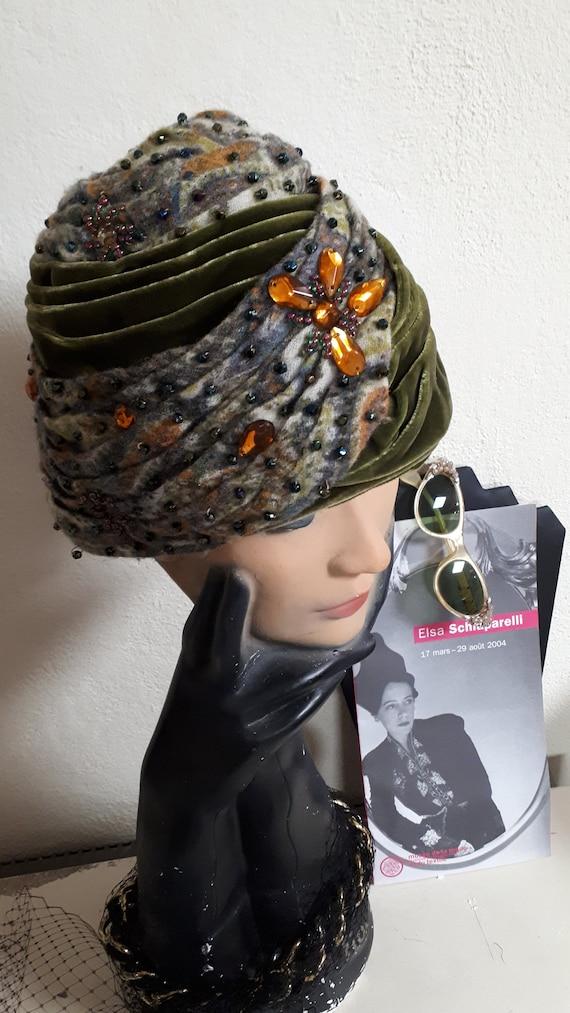 ELSA SCHIAPARELLI iconic vintage hat, haute coutu… - image 10