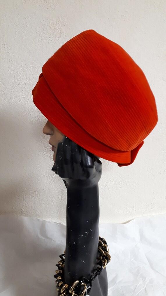 ELSA SCHIAPARELLI, haute couture hat, RED velvet,… - image 7