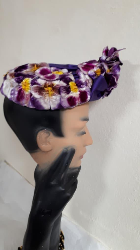 ELSA SCHIAPARELLI vintage hat, haute couture, Par… - image 5