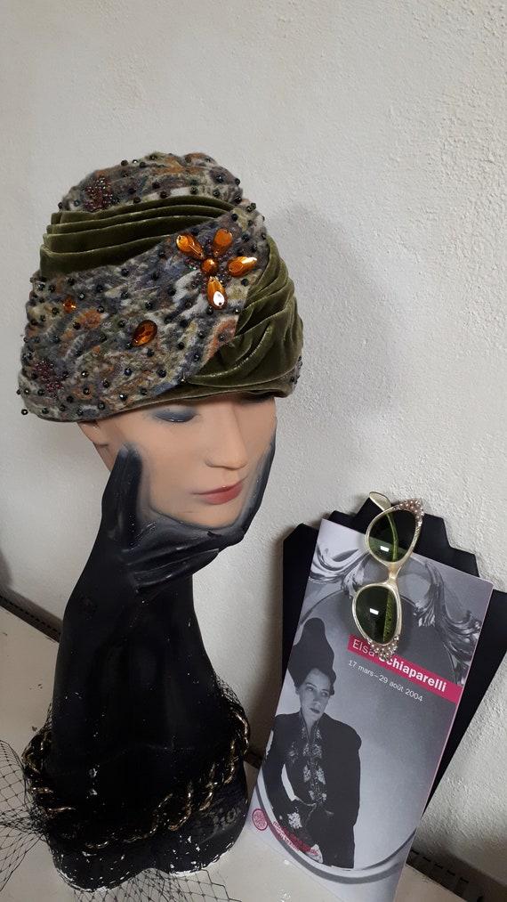 ELSA SCHIAPARELLI iconic vintage hat, haute coutu… - image 8