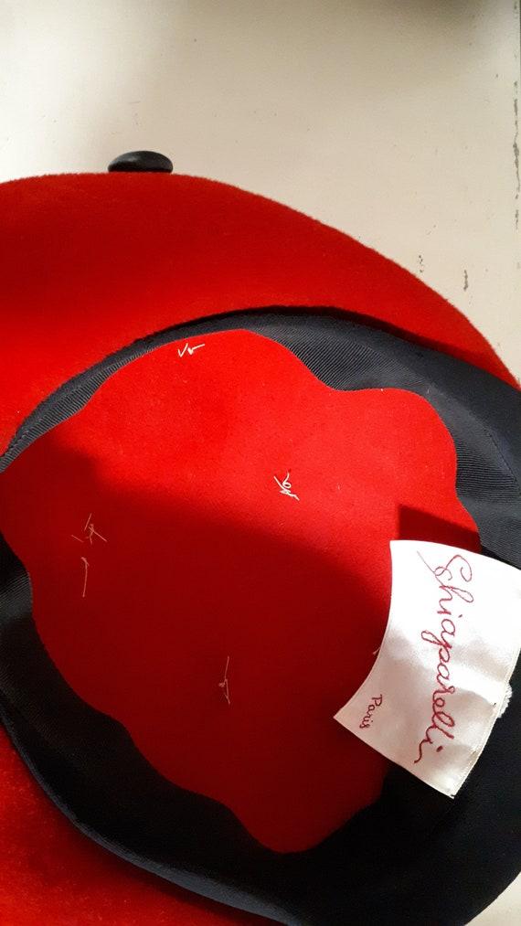 ELSA SCHIAPARELLI vintage hat, fifties, LADYBIRD … - image 8