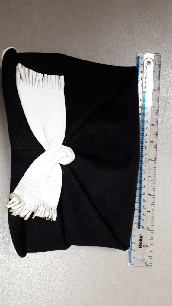 ELSA SCHIAPARELLI vintage hat, fifties, rare, bla… - image 8